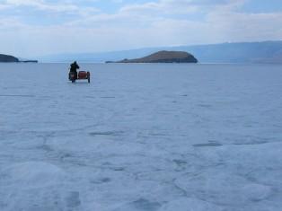 Motorcycle on Lake Baikal