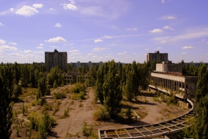 View from Hotel Polissya, 2011