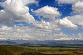 View from the M41, the Bishkek to Osh highway, 2013