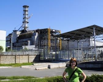 Me, in front of Reactor 4 (2011)