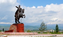 Statue of Shabdan Baatyr, Kemin, 2013