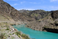 Naryn River reservoir, 2013