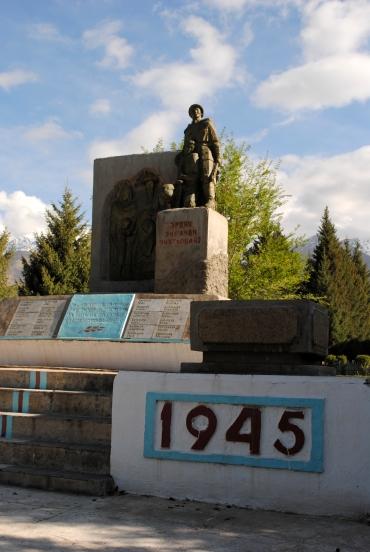WWII memorial, Toguz Bulak, 2013