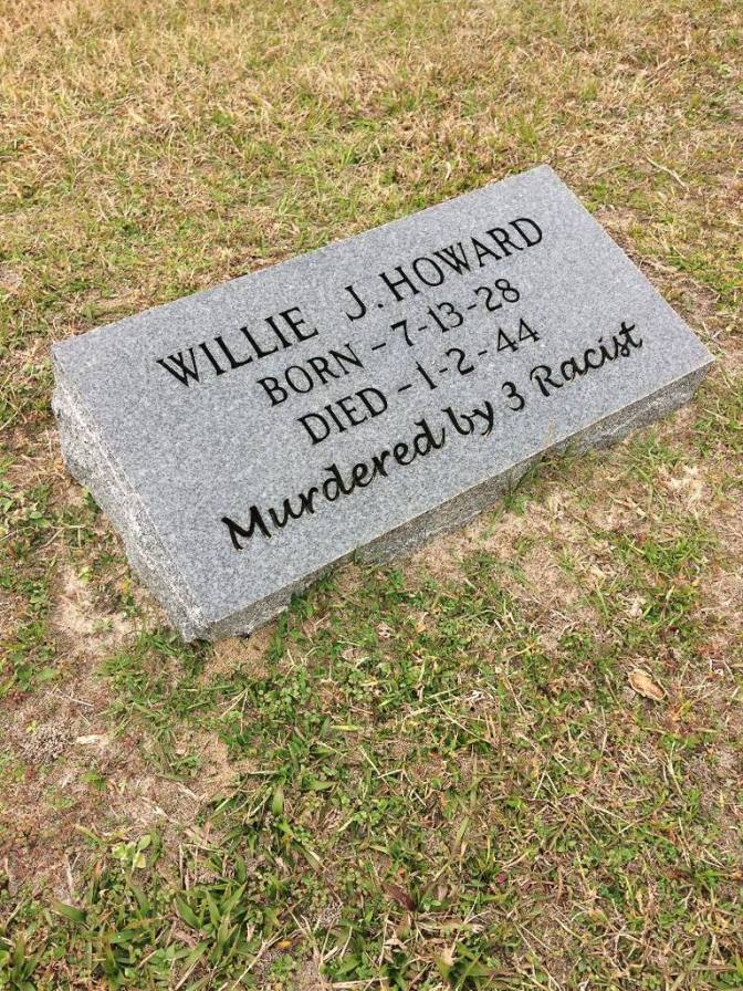 Gravestone of Willie James Howard, Live Oak, FL